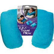 Pillow Duo: 2-in-1 Travel Pillow. Convert from horseshoe to rectangular style pillow in seconds