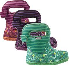 Bogs Baby Classic Flower Stripe Waterproof Boot