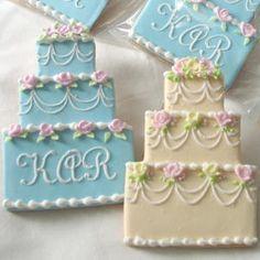Tiered wedding cakes
