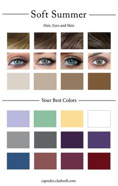 How To Create Your Personal Color Palette (Plus Take Our Color Quiz) — Cladwell Deep Autumn Color Palette, Soft Summer Palette, Summer Color Palettes, Color Quiz, Colours That Go Together, Clear Winter, Clear Spring, Bright Spring, Spring Colors