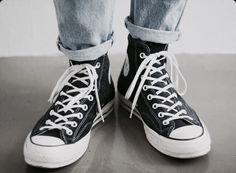 vintage black converse