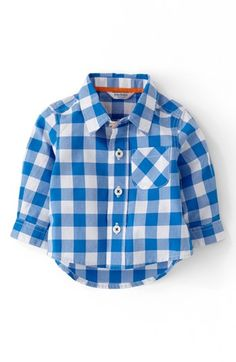 Mini Boden 'Laundered' Woven Shirt (Baby Boys) available at #Nordstrom