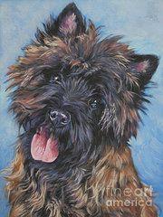 Cairn Terrier Paintings - Cairn terrier Brindle by Lee Ann Shepard