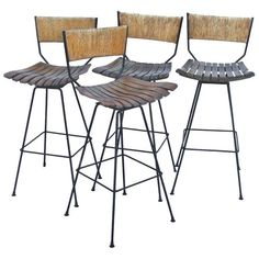 Furniture Orderly Antique Seagrass Stool Durable In Use 1900-1950