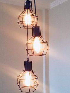 Pendente, lâmpada de filamento, decoração.