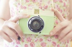 There's nothing prettier than a pastel coloured camera...