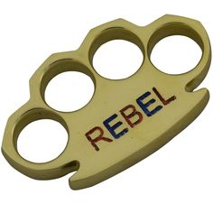 REBEL Engraved Knuckles Polished Natural Brass Knuckle Paperweight By: Dalton Global Knuckles Hand, Brass Knuckles, Butterfly Knife, Automatic Knives, Engraved Pocket Knives, Glass Breaker, Paratrooper, Key West, Paper Weights