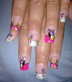 O Great Nails, Cool Nail Art, Cute Nails, Fancy Nails, Trendy Nails, Luminous Nails, Wow Nails, Animal Nail Art, French Nail Art