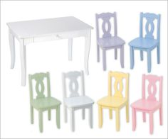 Brighton Kids Table and Chair Set  By KidKraft Furniture - table and one chair only