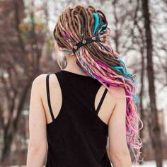 #dreads #colorfuldreads