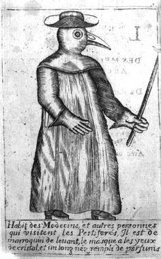 Plague doctor, Frontispiece from Jean-Jacques Manget, Traité de la peste, 1721