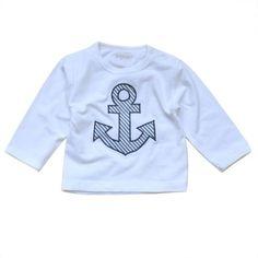Langarm Shirt – ANKER – Streifen marine