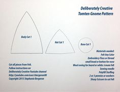 Deliberately Creative Pattern for Felt Gnome Tomte