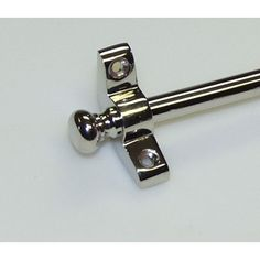 DHS - Knob Finial 0701-SB shown in Polished Nickel with 3/8″ Diam Smooth Tube |  Decorative Hardware Studio.