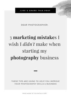 3 Marketing Mistakes I Wish I Didn't Make