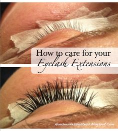 8d5e3648dbb Care For Eyelash Extensions. must read, thinking about getting them