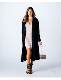 Cool, easy, chic looks with youthful elegance Cocktail Gowns, Long Vests, Duster Coat, Outfit Styles, Fashion Outfits, Elegant, Chic, Long Sleeve, Sleeves