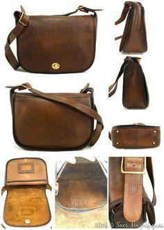 Restoration  After-Early Vintage Coach United Airlines Stewardess Bag –  Sacs Magnifiques Coach Leather 5c1c31e64a
