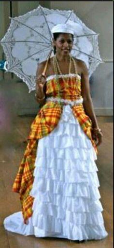 ... dress, madras costume clothing, French Caribbean Island Guadeloupe