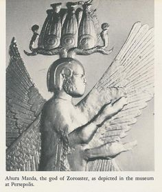 ahura mazda | AHURA MAZDA | Flickr - Photo Sharing! as depicted at the museum of Perseopolis. Note resemblance to later Egyptian gods.