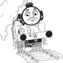 The Great Race coloring page #thomasandfriends | Train ...