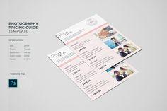 Program Template, List Template, Templates, Photography Price List, Star Photography, Photographer Packaging, Photo Folder, Text Tool, Text File