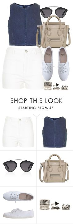 """Style #10412"" by vany-alvarado ❤ liked on Polyvore featuring River Island, Topshop, Christian Dior, American Apparel and Forever 21"