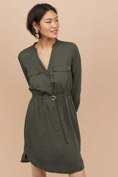 3c2cf6ba0f812 16 Best Khaki Green Dress images | Dress skirt, Khaki green dress ...
