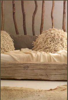 fleece pillow ___ Laurie Owen Interiors, a South African interior design company.