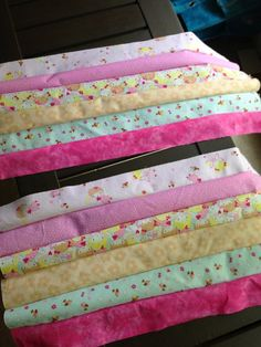 quick jelly roll quilt or strip quilt for a child. This is a fast way to make a cute quilt!