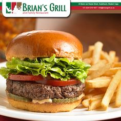 MONDAY BURGER SPECIAL ONLY @ Brian's Grill and Family Restaurant. Come and have a delicious Burger. Call us on: (0)44 279 1927 #BriansGrill #Special #BURGER