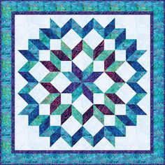Quilts, Free Quilt Patterns and Designer Patterns: Robert Kaufman Fabrics Star Quilt Blocks, Star Quilt Patterns, Star Quilts, Sewing Patterns, Quilting Projects, Quilting Designs, Quilting Ideas, Half Square Triangle Quilts Pattern, Kaleidoscope Quilt