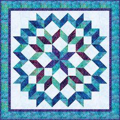 Quilts, Free Quilt Patterns and Designer Patterns: Robert Kaufman Fabrics Star Quilt Blocks, Star Quilt Patterns, Star Quilts, Quilting Projects, Quilting Designs, Quilting Ideas, Half Square Triangle Quilts Pattern, 3d Quilts, Batik Quilts