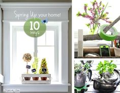 10 upcycled ways to instantly spring up your home! By Funky Junk Interiors for ebay.com