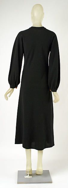 Dress (image 2 - back) | Madeleine Vionnet | French | 1935 | wool, metal, leather | Metropolitan Museum of Art | Accession Number: 1976.29.12