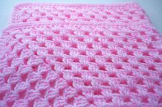 Chunky Crocheted Pink Baby Blanket £24.00