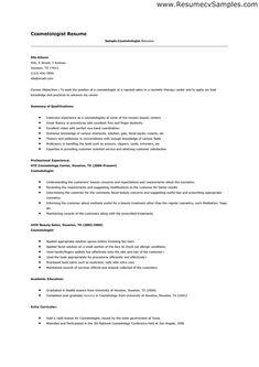 cosmetologist resume example cosmetology skills free templates best free home design idea inspiration - Sample Cosmetologist Resume