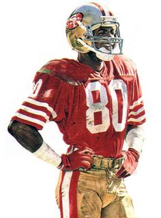 Jerry Rice, SF 49ers by Merv Corning.