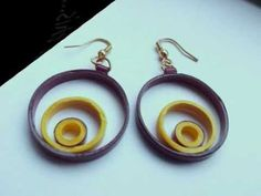 How-to make paper quilling jewellery earrigs beginers professionals.paper jewelry ,quilled earring.