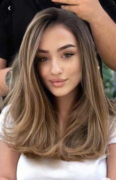 Chestnut Brown Hair, Brown Blonde Hair, Hair Color Brown, Blonde Brunette Hair, Brunette Hair Colors, Medium Ash Blonde Hair, Light Ash Brown Hair, Hair Color Caramel, Ombre Hair Color