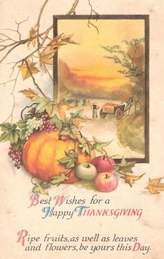 Vintage Thanksgiving Clip Art, Harvest Blessing Word Art