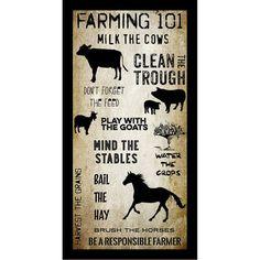 Buy Art For Less 'Farming 101' by Brandi Fitzgerald Framed Graphic Art