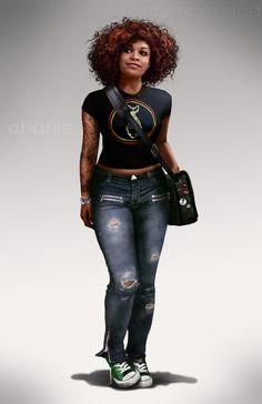 Character inspiration [Charlie by Rahzzah on deviantART] Cthulhu, Black Women Art, Black Girls, Black Art, Gangsters, Um Drink No Inferno, Black Power, Character Concept, Character Art