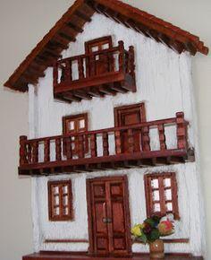 Retablo Madera: Venta Retablos de Madera Artesanales My Home Design, House Design, Spanish Style Homes, Miniature Fairy Gardens, Diy Crafts, Paper Crafts, Clay Art, Diy For Kids, My House