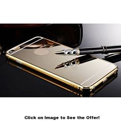 "ABC(TM) 2015,New Ultra-thin Luxury Aluminum Metal Mirror Case Cover for iPhone 6 4.7"" (Gold)"