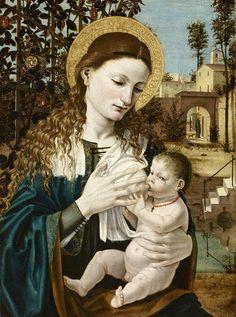 Bergognone (Ambrogio da Fossano detto) - Madonna del Latte - 1485 circa - Accademia Carrara di Bergamo Pinacoteca