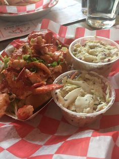 Photo of Red Hook Lobster Pound - Brooklyn, NY, United States. Classic lobster roll (barely any mayo) with potato salad and slaw. $24 (9/16)