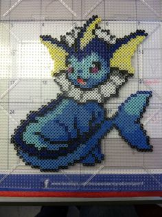 Vaporeon Perler bead Pokemon! by Khoriana on DeviantArt