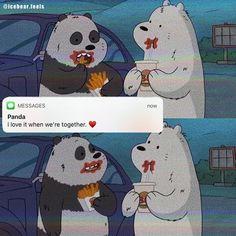Cartoon Wallpaper Iphone, Bear Wallpaper, Cute Cartoon Wallpapers, Panda Wallpapers, Foto Cartoon, Bear Cartoon, Ice Bear We Bare Bears, We Bear, We Bare Bears Wallpapers