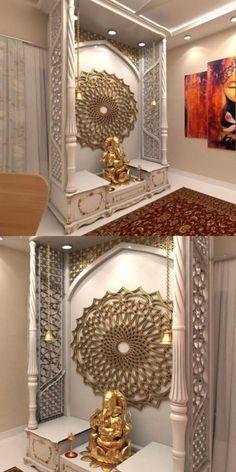 Temple Room, Home Temple, Study Room Design, Room Interior Design, Small Closet Design, Temple Design For Home, Mandir Design, Living Room Tv Unit Designs, Pooja Room Door Design